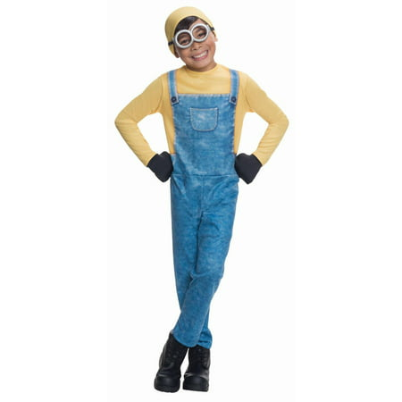 Minions Movie Minion Bob Child Halloween Costume - Elsa Halloween Costume Size 10-12