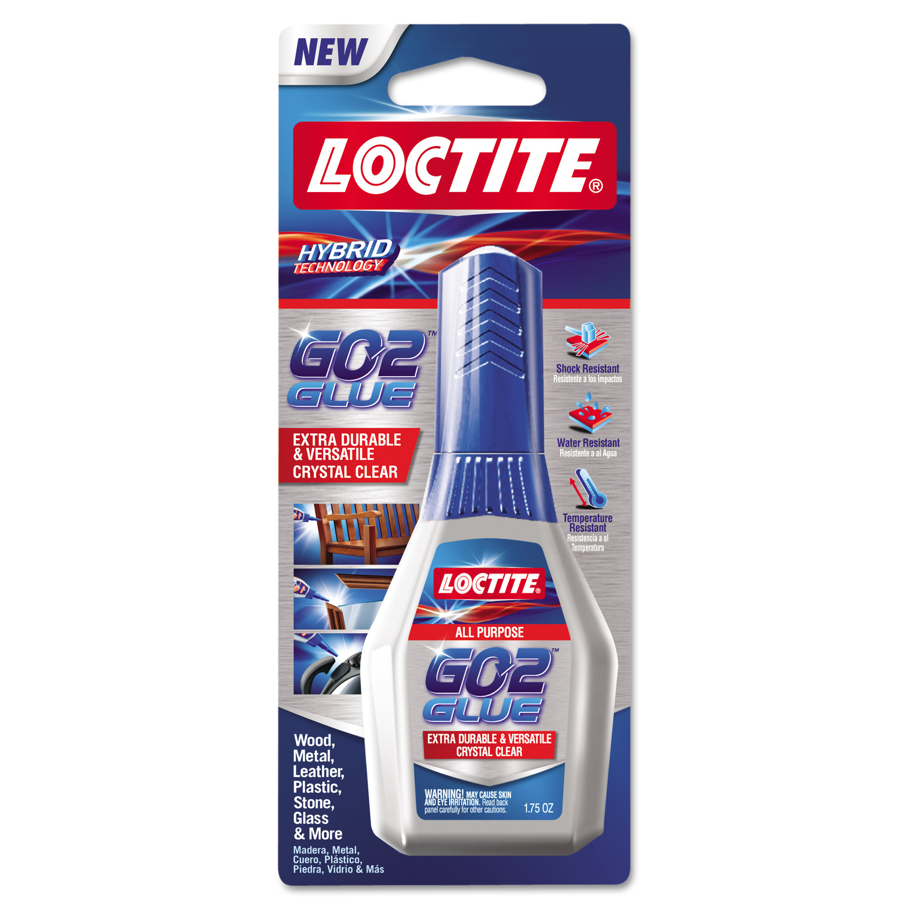 Loctite All-Purpose Adhesive, Clear, 1.75 oz, 1/ea -LOC1661510