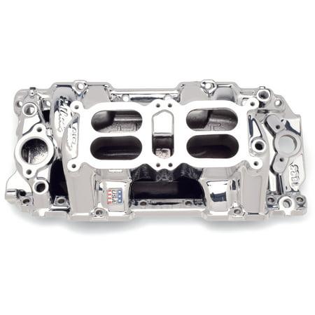 Edelbrock 75224 RPM Air Gap Dual-Quad Intake - Air Gap Intake Manifold