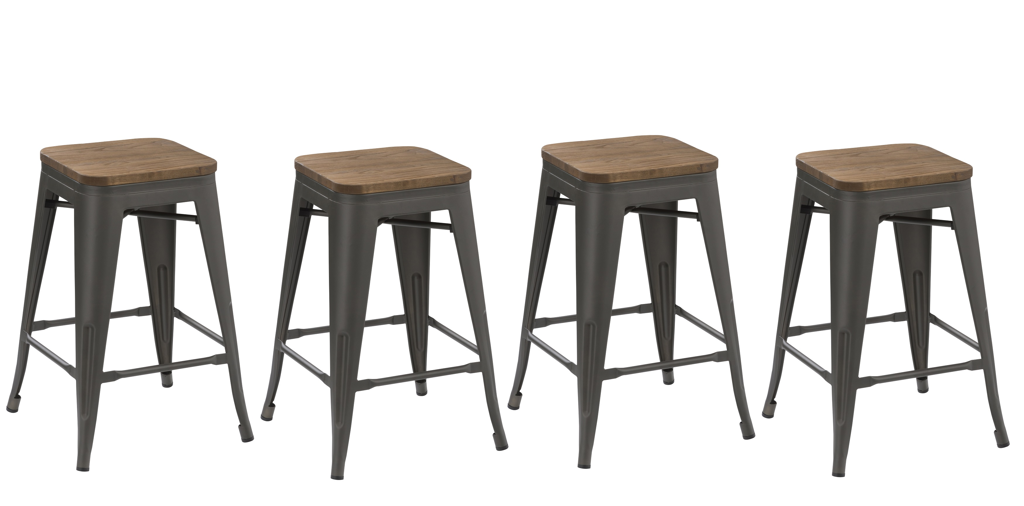Strange Btexpert 24 Inch Industrial Metal Antique Gunmetal Counter Bar Stool Matte Handmade Wood Seat Set Of 4 Barstool Pdpeps Interior Chair Design Pdpepsorg