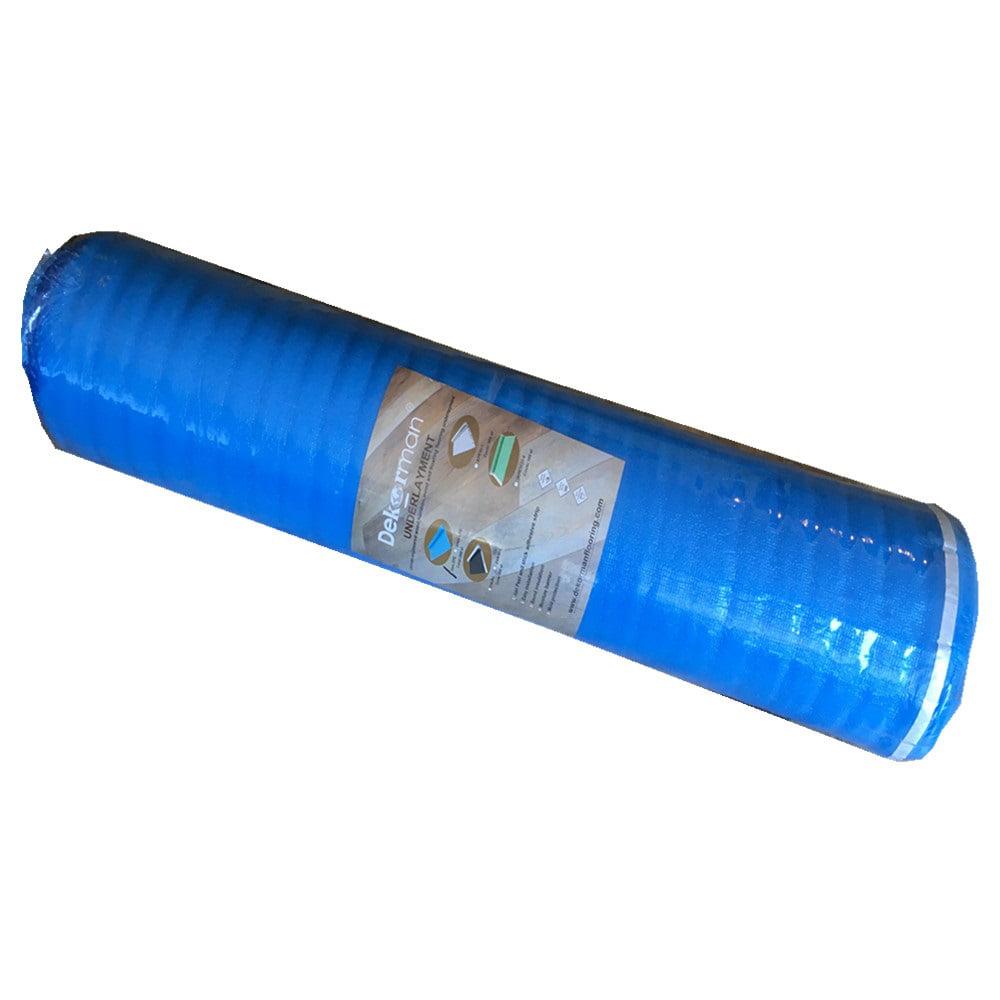 Dekorman 2mm Thickness Blue Foam Underlayment, 200 sqf per roll
