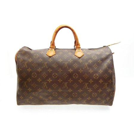 Speedy Monogram 40 227854 Brown Coated Canvas Satchel