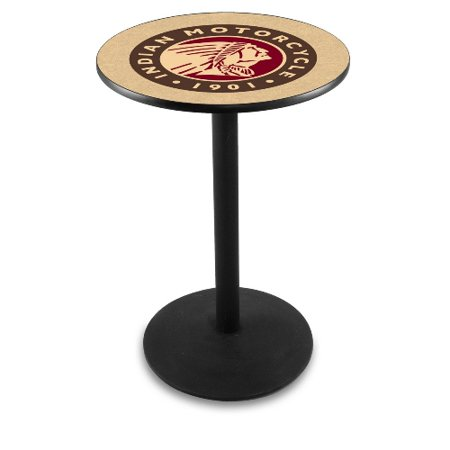 40 Inch Glass Bar Table - Holland Bar Stool 36-Inch Indian Motorcycle Black Pub Table - L214