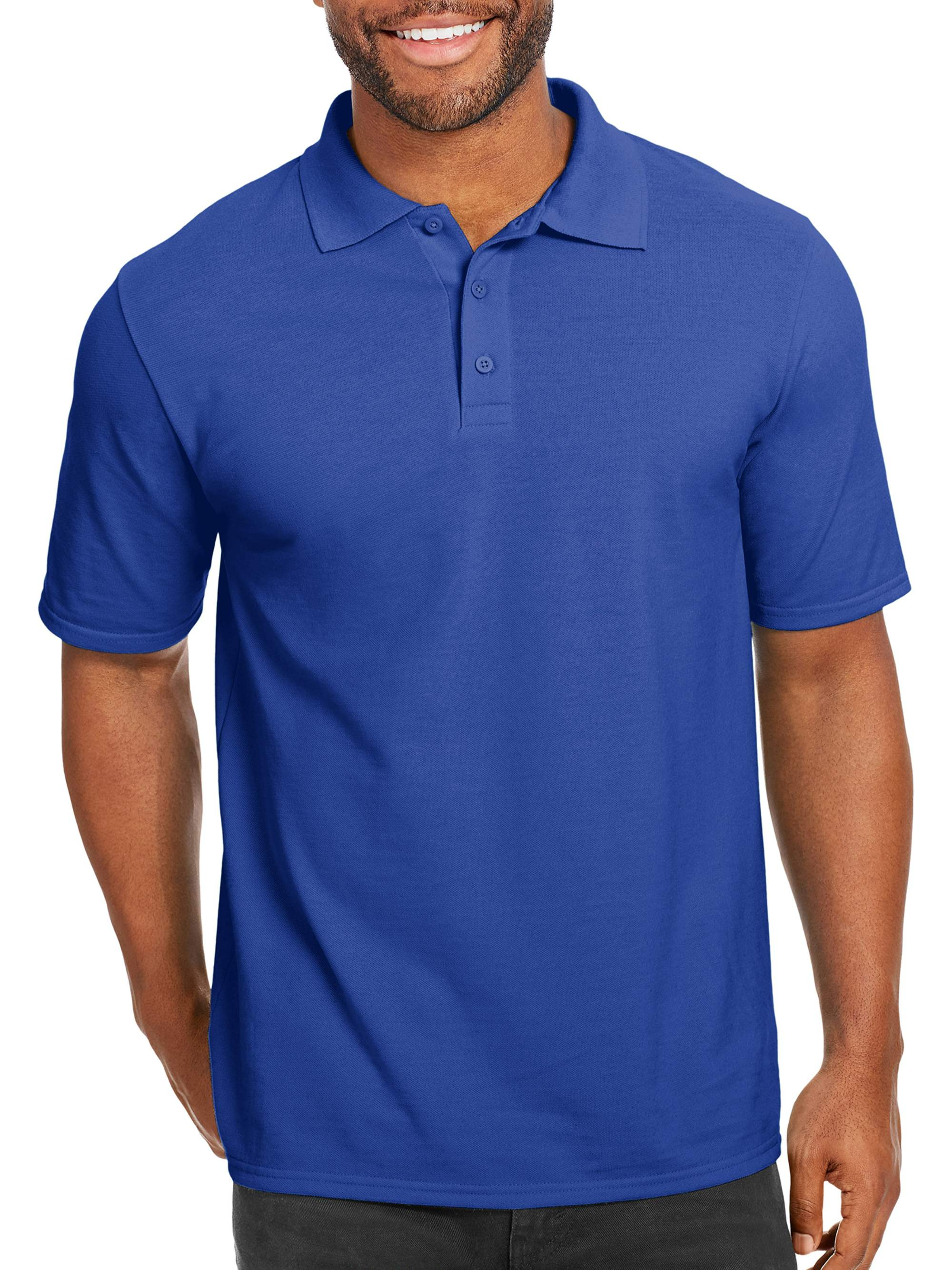 52588491 Hanes - Hanes Men's x-temp with fresh iq short sleeve pique polo shirt -  Walmart.com