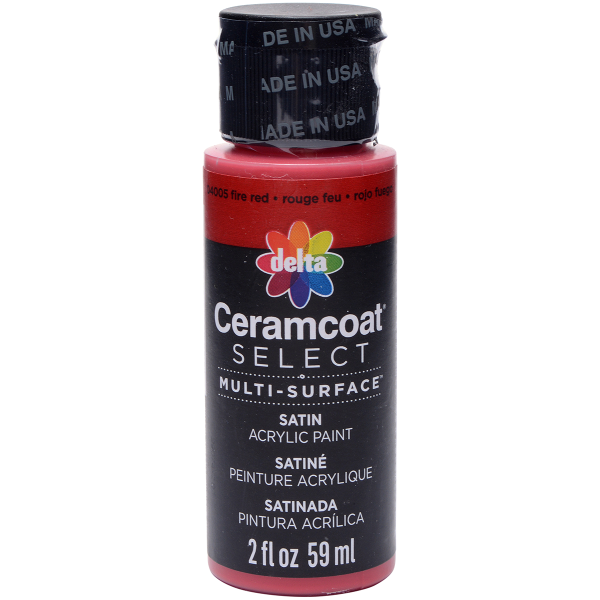 Ceramcoat Select Multi-Surface Paint 2oz-Fire Red