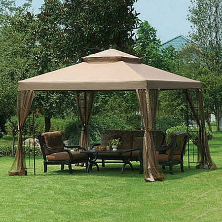 Garden Winds Replacement Canopy Top And Side Mosquito Netting Set For Big Lots 10X10 Gazebo   Riplock 350
