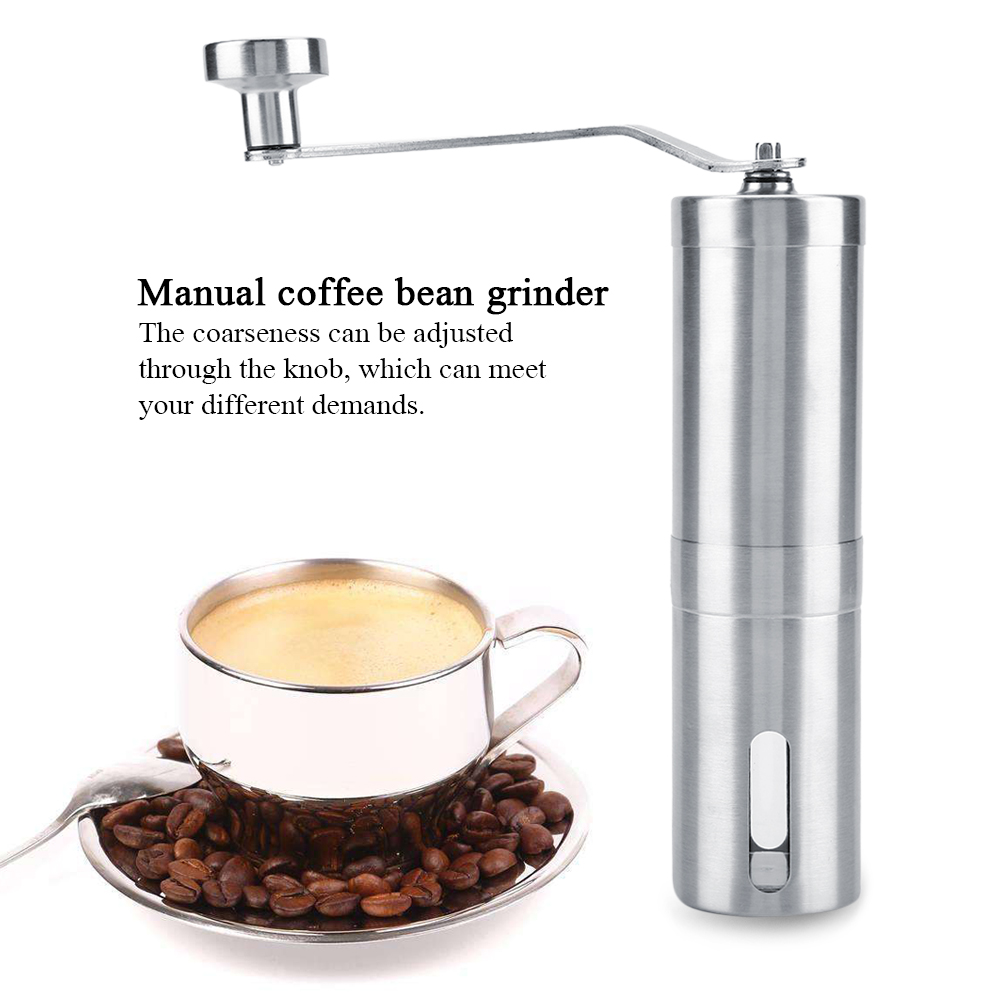 Ashata Stainless Steel Coffee Mill Manual Coffee Bean Grinder Pepper Spice Grinding Portable Hand Tool,... by