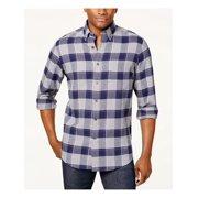 Club Room $69.50 Men's Blue Flannel Shirt XL B&B
