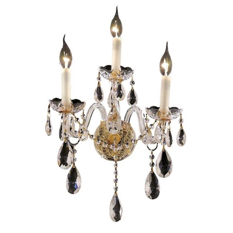 "Elegant Lighting Alexandria 13"" 3 Light Royal Crystal Wall Sconce - image 1 de 1"