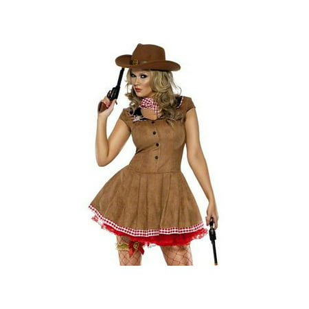 Smiffy's Fever Wild West Costume 33794SM Brown