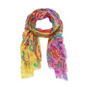 In Things Corp Handmade Saachi Women's Wool and Silk Blend Floral Paisley Scarf (India)