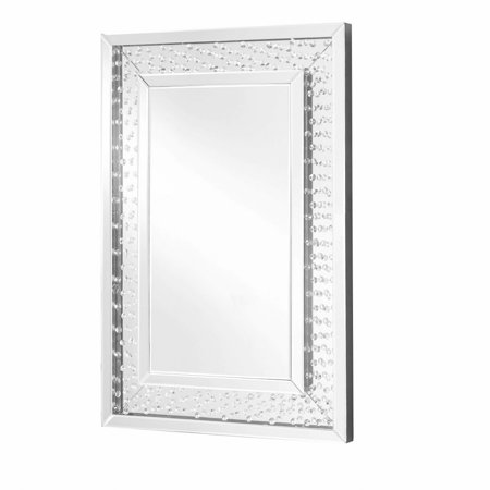 On A Crystal Mirror (Sparkle 24 in. Contemporary Crystal Rectangle Mirror in Clear )