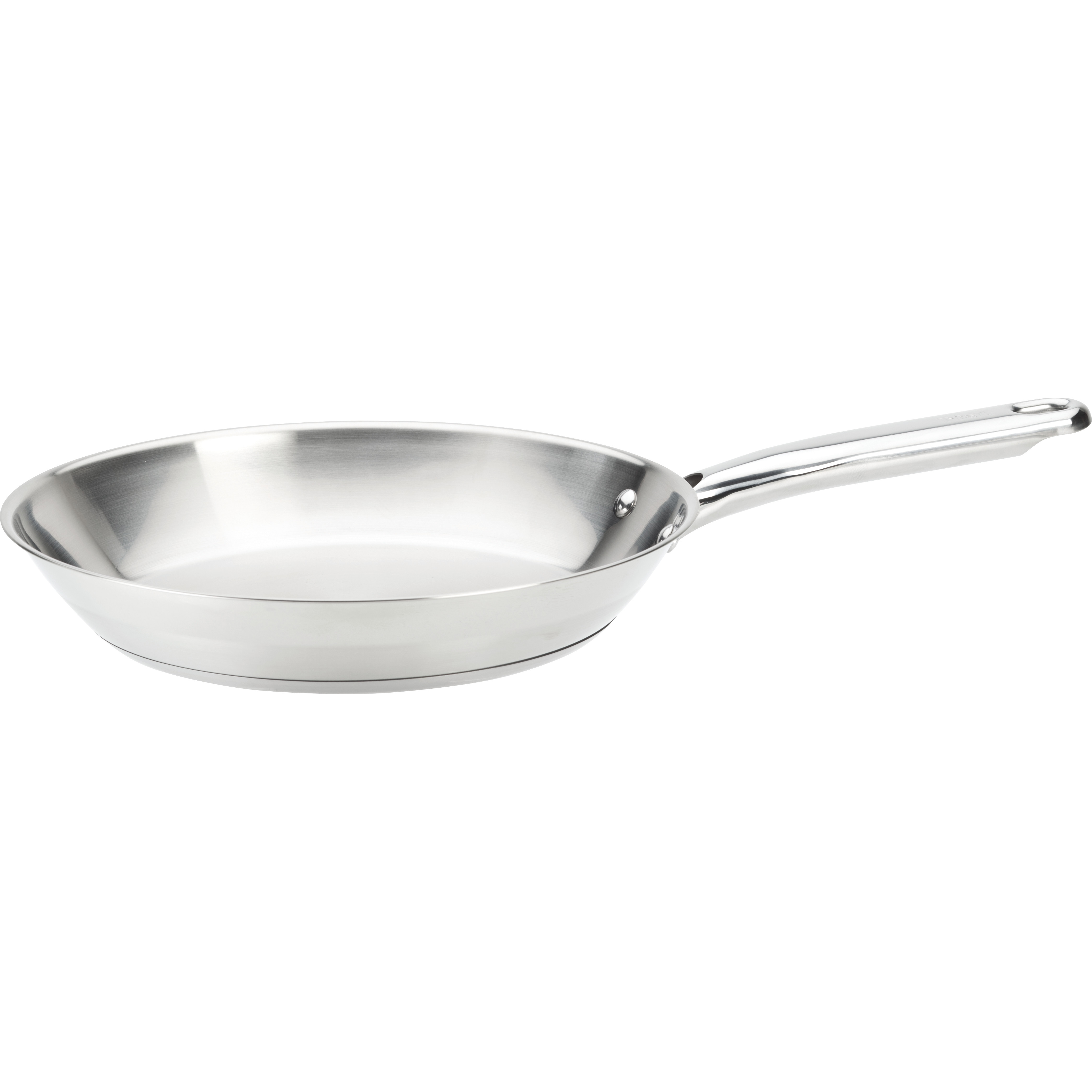 """T-fal, Elegance Stainless Steel, C81107, Dishwasher Safe, Induction Compatible Cookware, 12"""" Fry Pan, Silver"""