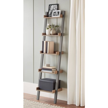 Better Homes And Gardens Bedford 5 Shelf Narrow Leaning Bookcase Multiple Colors