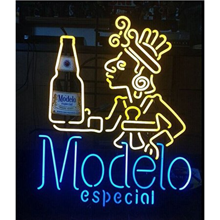 Desung Brand New Modelo Especial Neon Sign Handcrafted Real Glass Beer Bar Pub Man Cave Sports Neon Light 24 X 20  Wml05