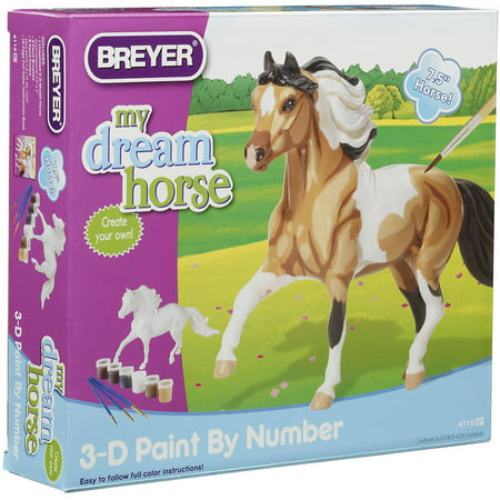 Breyer My Dream Horse 3D Paint-by-Number Kit, Pinto