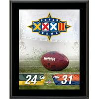 "Denver Broncos vs. Green Bay Packers Super Bowl XXXII 10.5"" x 13"" Sublimated Plaque"