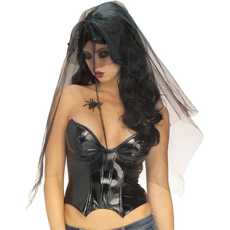 Black Gothic Ghost Vampire Dracula Widow Veil Elvira Adult Halloween Wig Womens - Gothic Wig