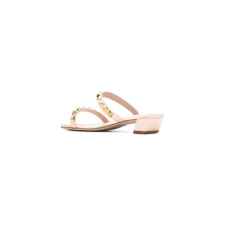 Stuart Weitzman Womens Stella Open Toe Casual Slide Sandals