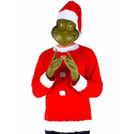 Men's Grinch Costume Kit Adult Costume
