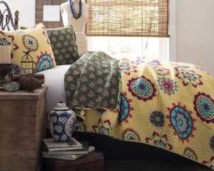 Adrianne 3-Piece Bedding Quilt Set by Lush Decor