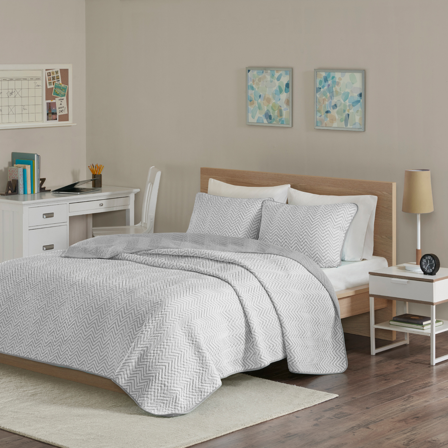 Home Essence Apartment Keya Cotton Blend Jersey Knit Quilt Set