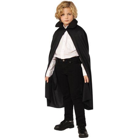 Black 36 Inch Child Short Vampire Costume Cape Robe With - Cheap Vampire Capes