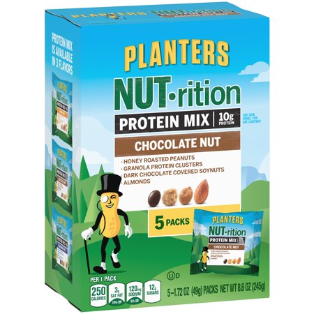 Planters Nut Rition Chocolate Nut Sustaining Energy Mix  1 72 Oz  5 Count