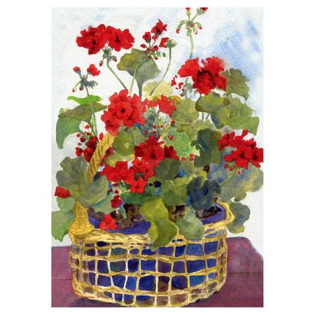 Toland Home Garden Geranium Basket Flag - Flag Apple Basket