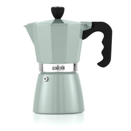 Presso Coffee Maker Non Electric Coffee Maker : La Cafetiere Classic Pistachio Green 6 Cup Espresso Non Electric Coffee Maker - Walmart.com