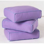 Thick Back Pillows w Cotton Cover - Set of 3