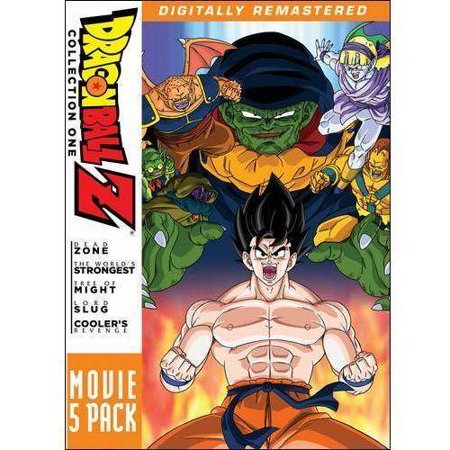 Dragon Ball Z  Movie 5 Pack   Collection One  Dead Zone   The Worlds Strongest   The Tree Of Might   Lord Slug   Coolers Revenge  Japanese