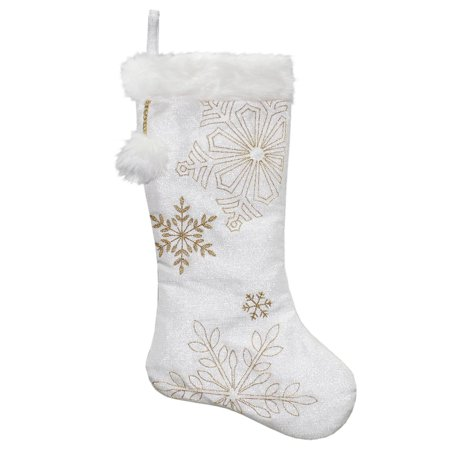 White And Gold Christmas Stockings (20