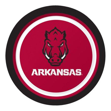 Club Pack of 96 NCAA University of Arkansas Razorbacks Paper Party Luncheon Plates 7
