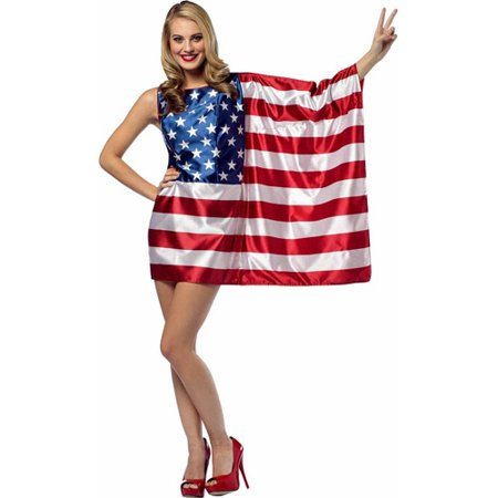 USA Flag Dress Adult Halloween Costume