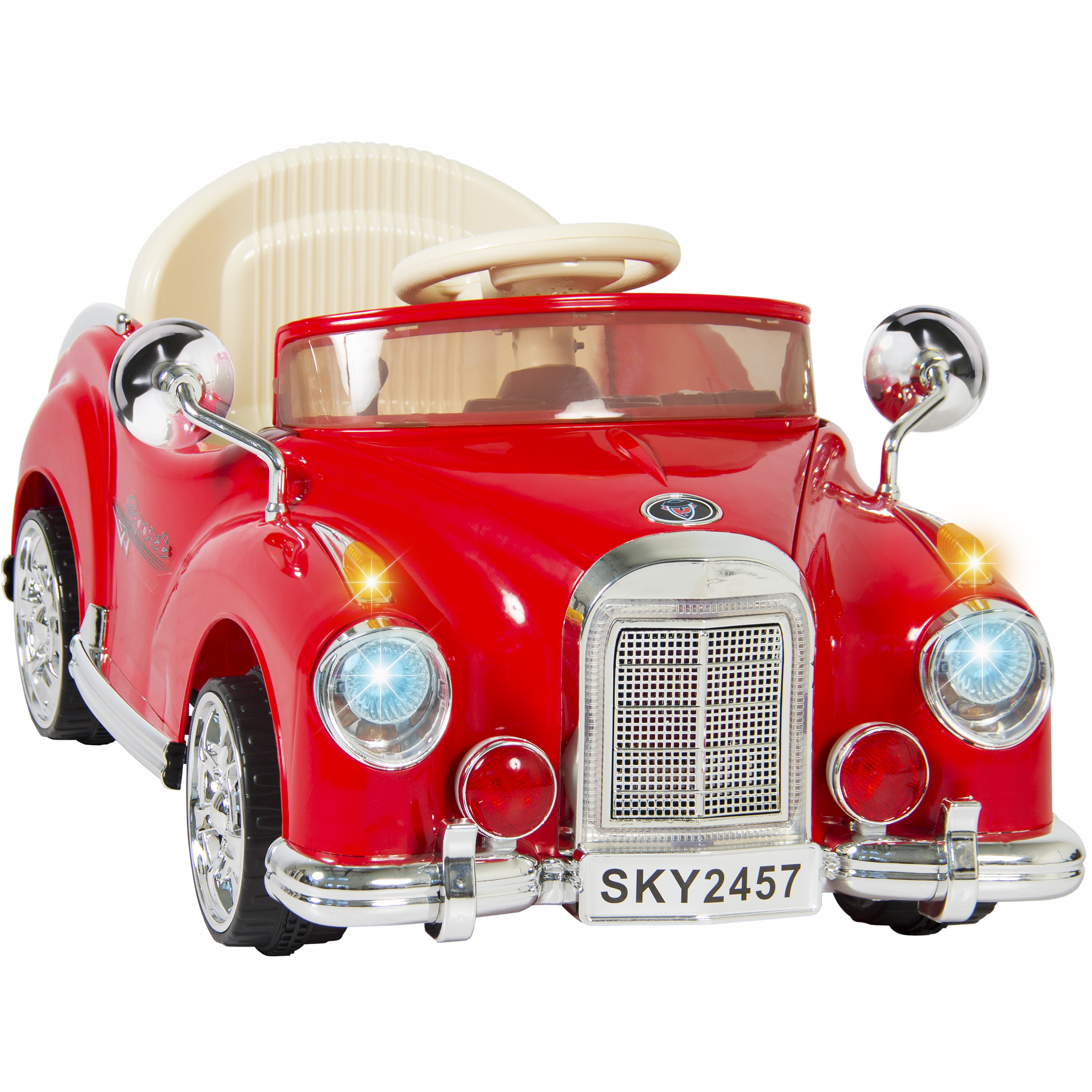 Ride On Car Rc Classic Car Remote Control Electric Battery Power