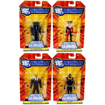 DC Justice League Unlimited Gotham City Criminals Set of 4 Action Figures