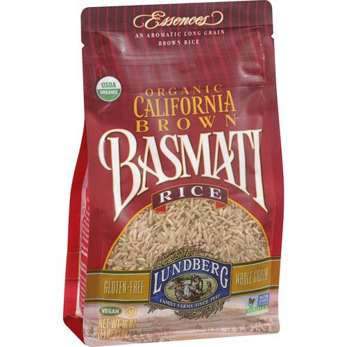 Lundberg Organic California Brown Basmati Rice, 16 oz, (Pack of 6)