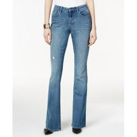 Style & Co Women's Mid Rise Flare Leg Curvy Fit Jeans Size (Jins Glasses)