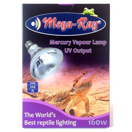 Watt Mercury Vapor Security Light - Mega-Ray Mercury Vapor Bulb - 160 Watts (120V)