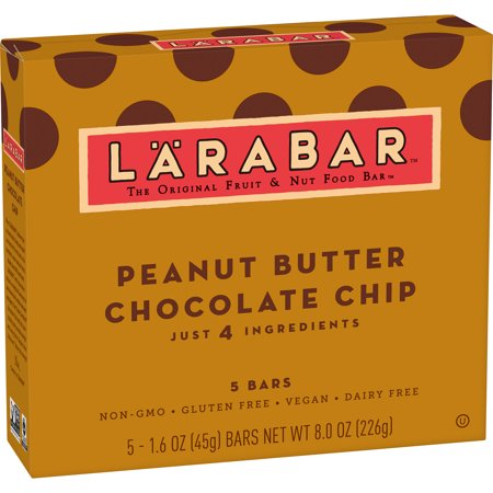 (4 Pack) Larabar Gluten Free Bar Peanut Butter Chocolate Chip 1.6 oz Bars