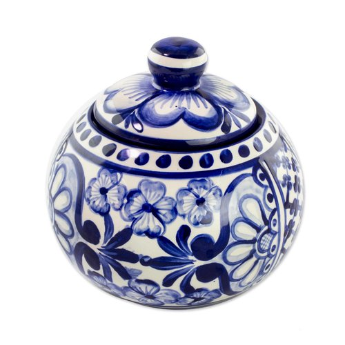 Bloomsbury Market Mccown Salvadoran Ceramic Sugar Bowl with Lid by