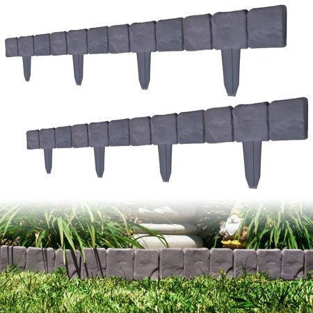 Image of Pure Garden Cobblestone Flower Bed Border - 10 pcs