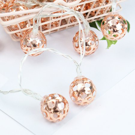 3 meter 20 light lamp, Nordic wind rose gold leaf lamp string Perfect for Indoor and Outdoor (3 Meter Wall Displays)