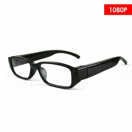 Mini 1080P HD Camera Glasses Eyeglass DVR Video Recorder NVR Records (Vidrio Glass)
