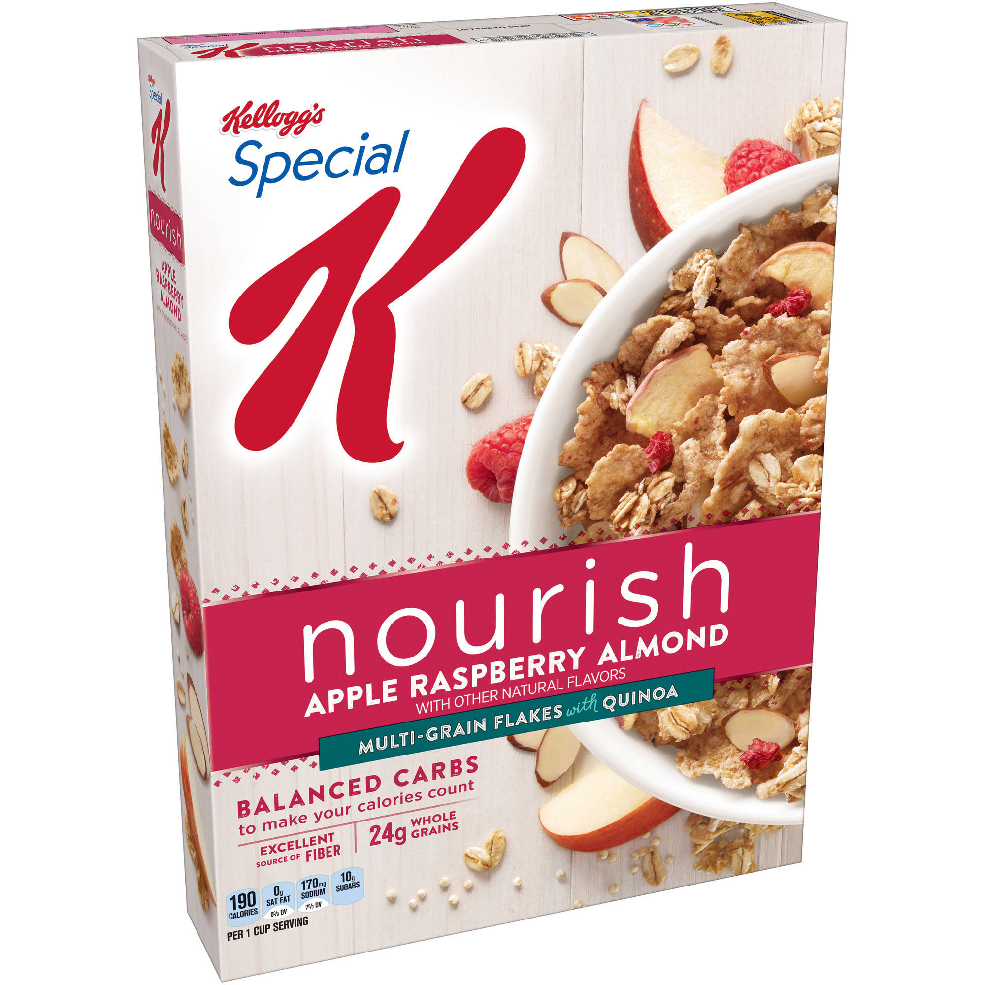 Kellogg's Special K Nourish Apple Raspberry Almond Cereal, 14 oz