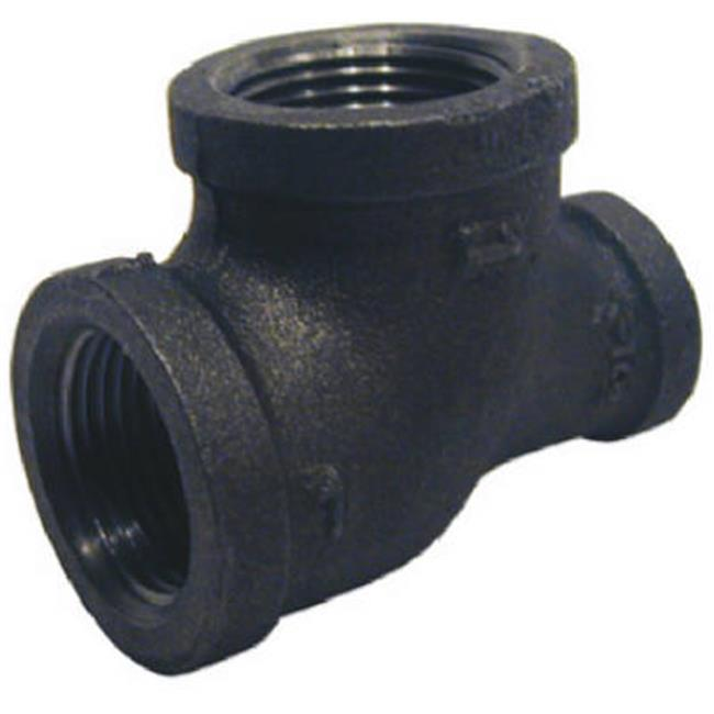 B-RT21007 1 x 0.75 in. Black Reducing Pipe Tee - image 1 of 1