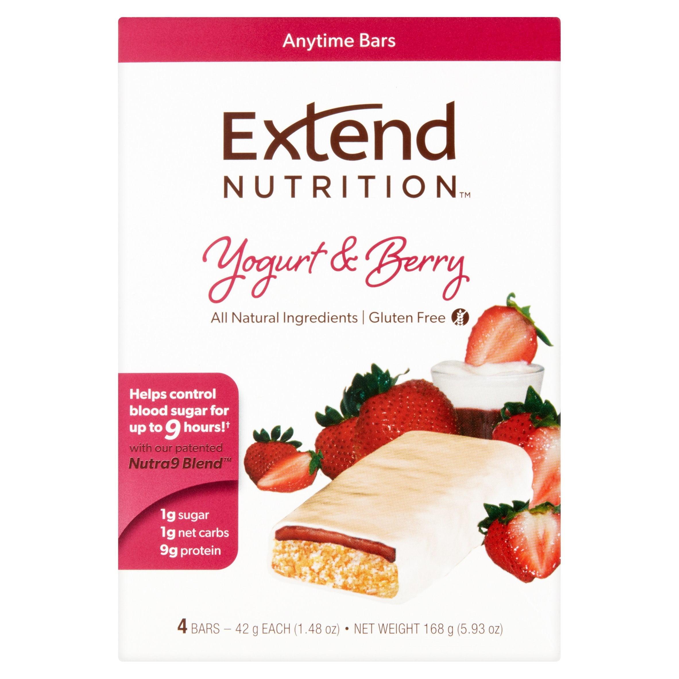 Extend Nutrition Bar, Yogurt & Berry, 9g Protein, 4 Ct