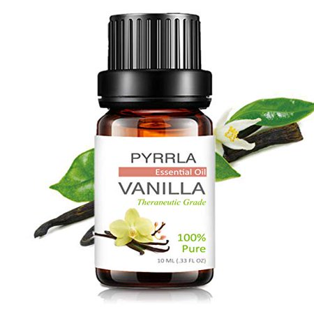 Pyrrla Essential Oil 10Ml Vanilla, Pure Therapeutic Grade Aromatherapy Essential Oils Basic Sampler Oils For Diffuser, Humidifier, Massage, Aromatherapy, Skin & Hair Care