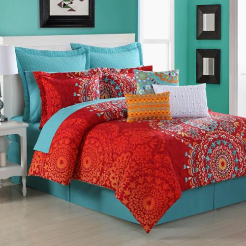 Cozumel Medallion 3-piece Comforter Set by Fiesta Twin